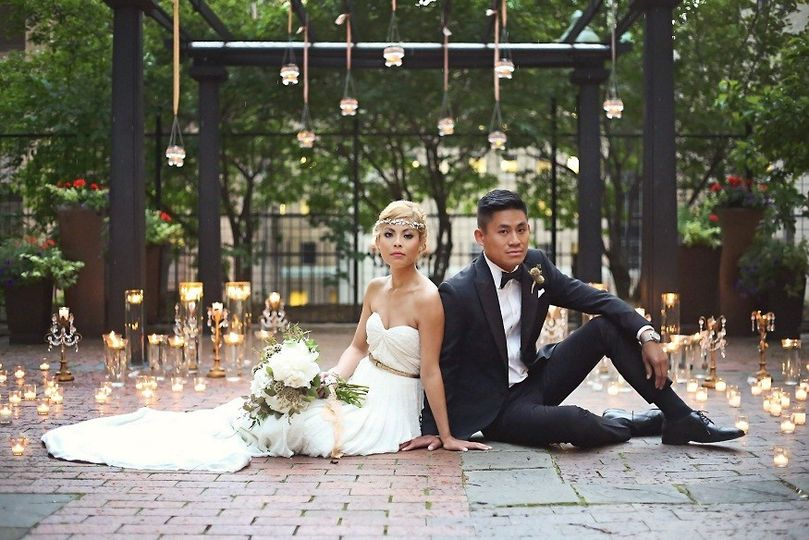 wedding couple pergola