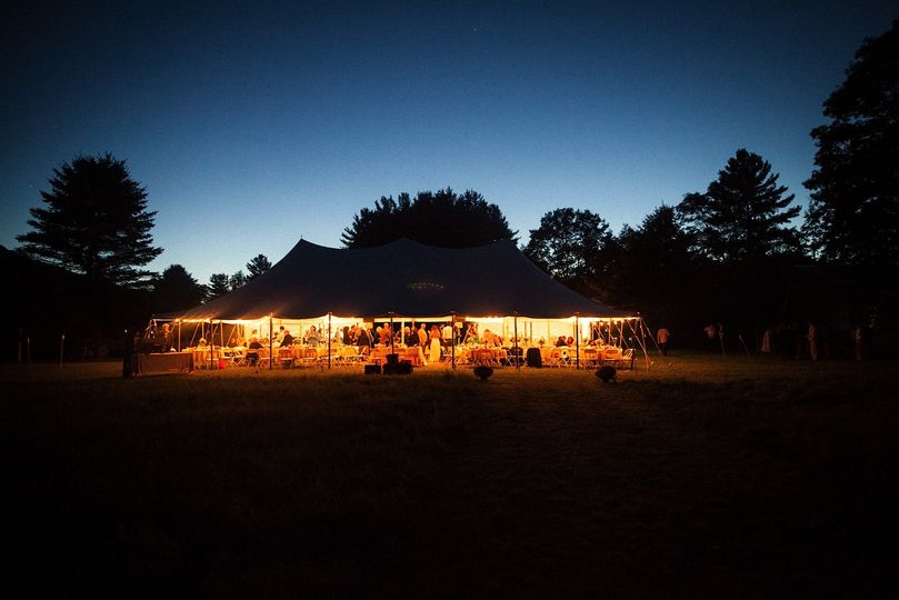 EVENING RECEPTION UNDER THE TENT.
