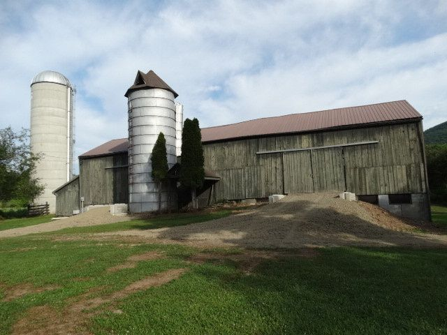 BARN VIEW FROM NEWLY RE-BUILT ENTRANCE RAMPS.