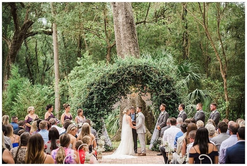 Ceremony at the barn
