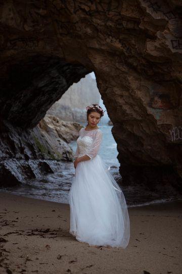 Adventurous bridal portaits