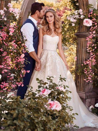 Long princess style wedding dress