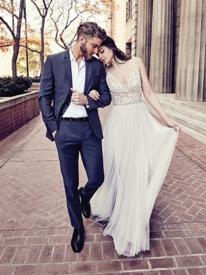 Simple long white dress