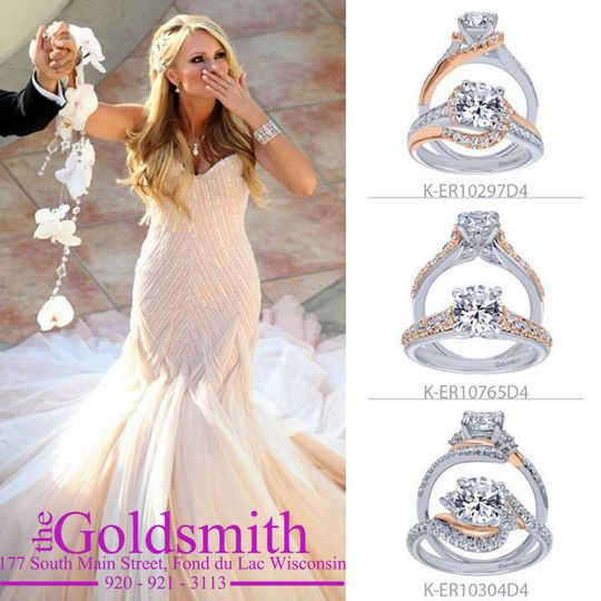 wedding pic and two tone rings w logo