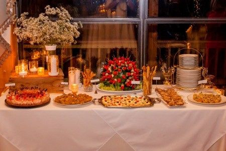 Appetizers Buffet table