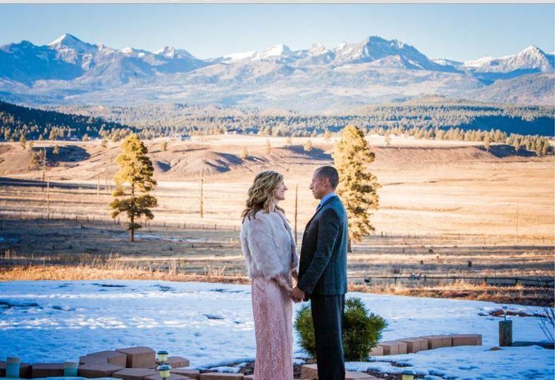 Mountain Wedding Backdrop