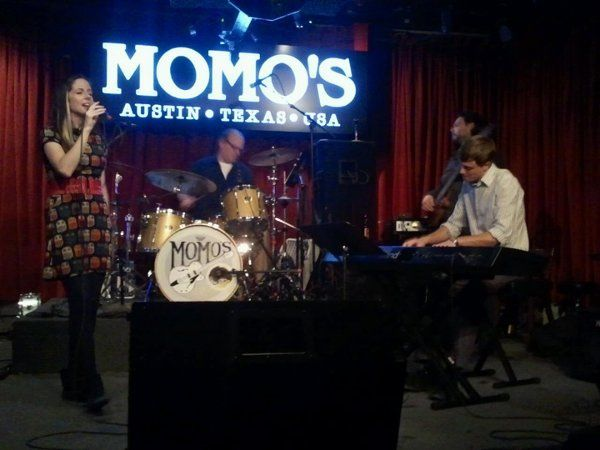 Performing at Momo's Jazz Happy Hour, downtown Austin.