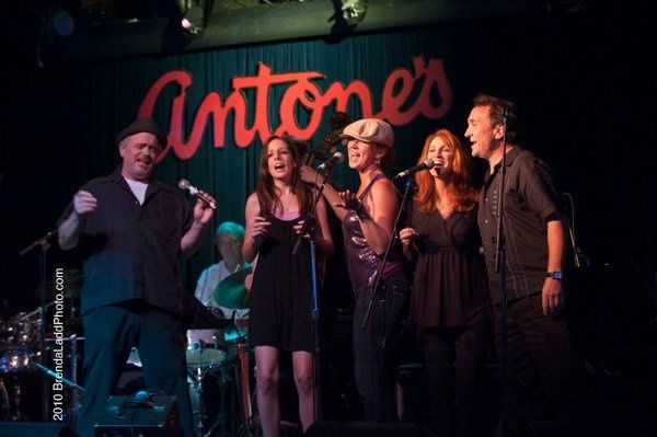 Performing as a backup singer at Antone's in Austin, TX.