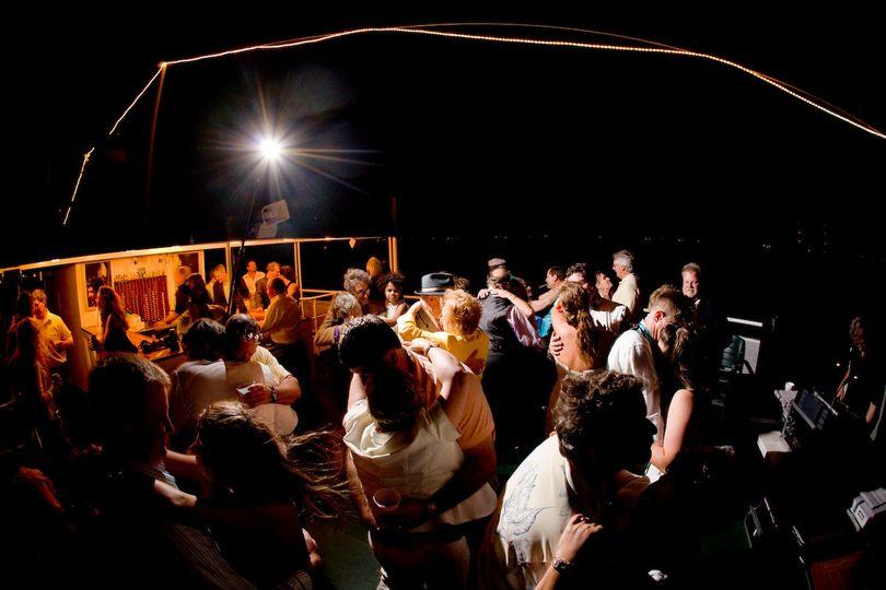 Dancing top deck on Belle