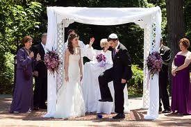 Violet wedding dress