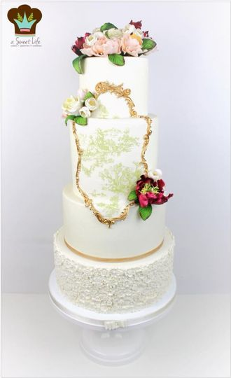 A french inspired wedding cake