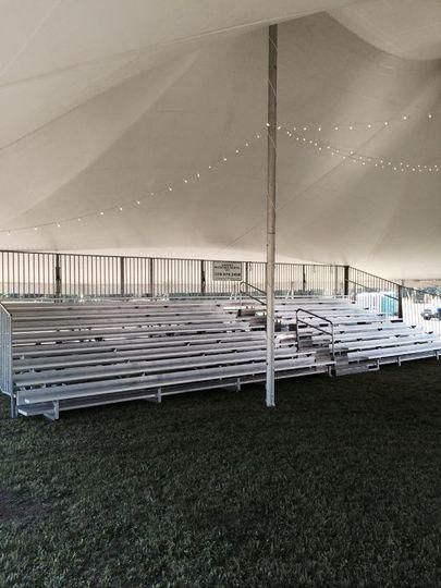 bleacher tent
