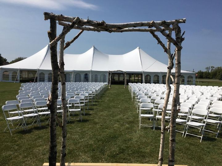 Ceremony chairs & tent