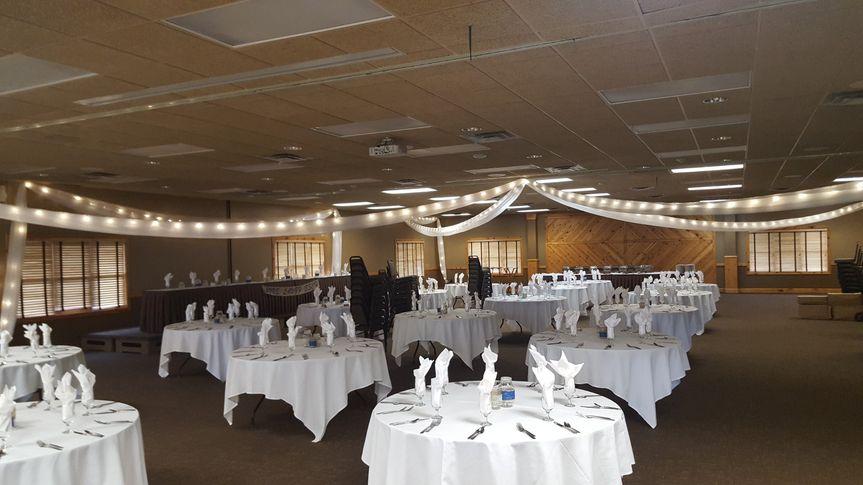 Ceiling decor & white linen