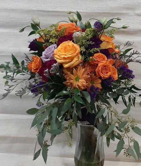 Orange and Purple Bouquet