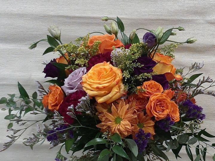 Tmx Orange Purple Garden Bouquet 2 51 664524 160737868721754 Grand Island, NY wedding florist