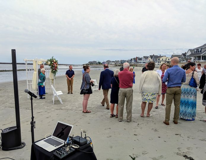 Battery-powered beach ceremony