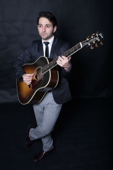 Posing with the guitar
