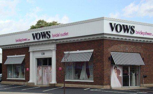 Vows bridal outlet storefront