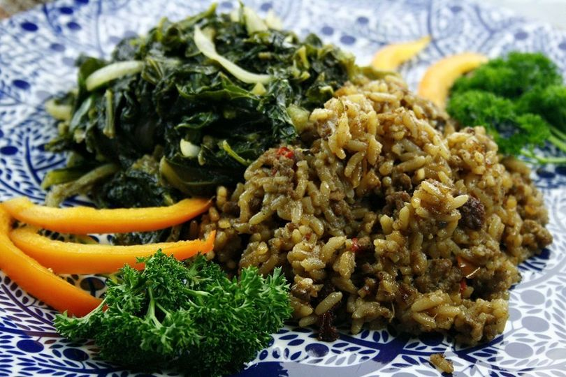 Dirty Rice & Country Greens