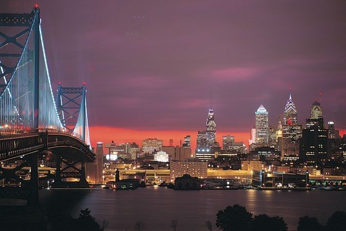 The Philadephia skyline in all it's glory, provided by the water views of the Freedom Elite and...