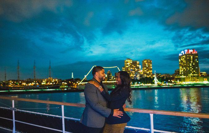 Romance on the Delaware River on board the Spirit of Philadelphia, docked at Penns Landing in...
