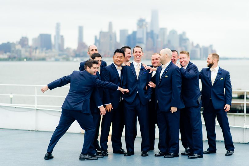 The NYC Skyline, Hudson River, and enough open space on the top deck of the Majesty to fill the...