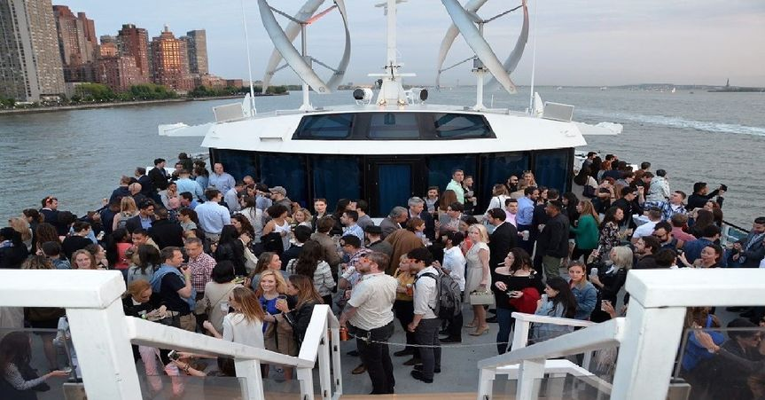 The top deck of the Infinity will give your guests a 360 degree view of NYC and NJ.