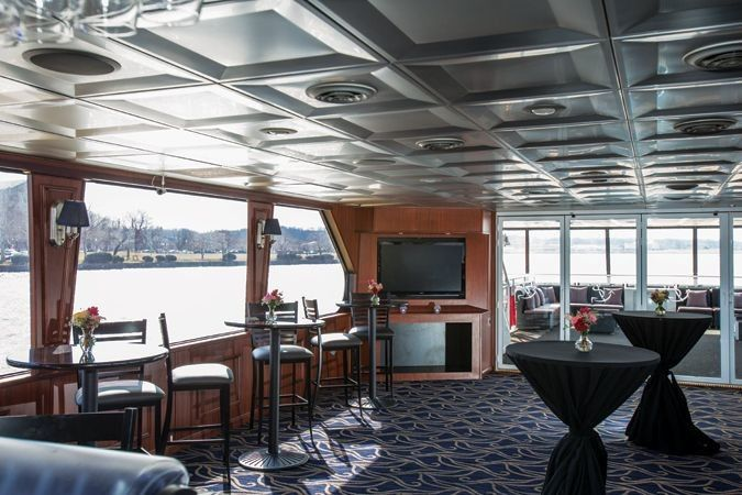 The National Elite is docked in Southwestern DC and can hold 100 guests for a seated dinnner or 149...