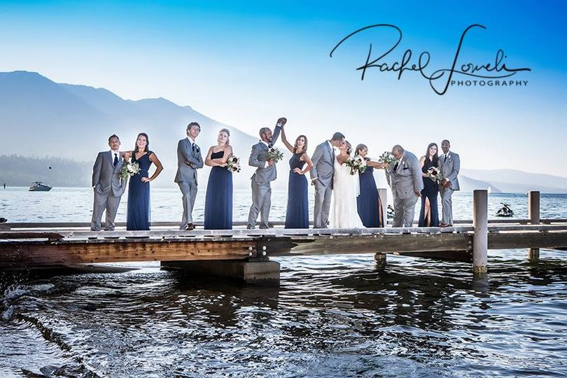 Wedding Party on the pier