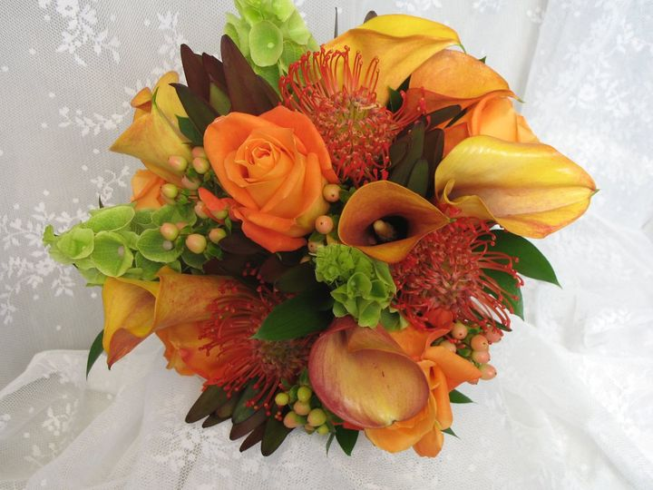 Tmx 1351189425322 Orangebouquet Boothbay Harbor, Maine wedding florist