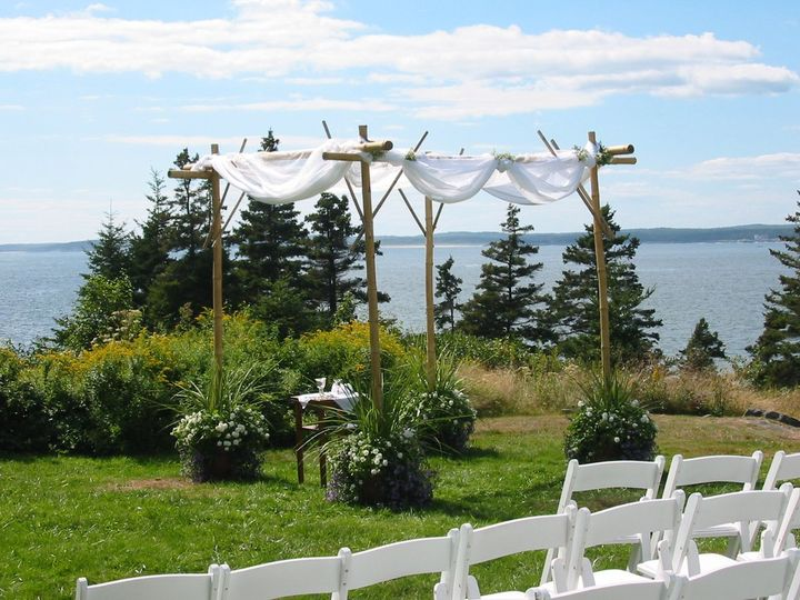 Tmx 1351194548501 Chuppawithswaggedfabric4 Boothbay Harbor, Maine wedding florist