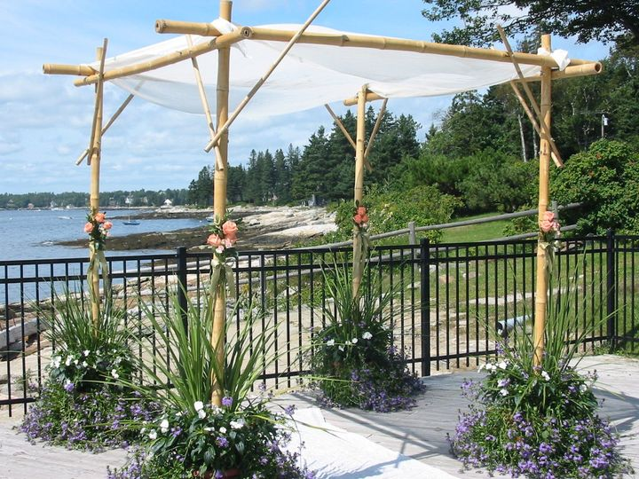 Tmx 1351194589433 Chuppapoolside3 Boothbay Harbor, Maine wedding florist