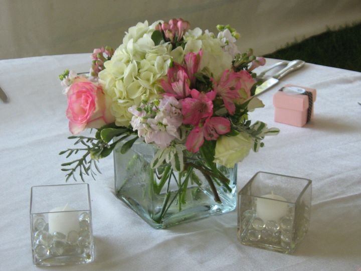 Tmx 1403879274460 Cube With Hydrangea Boothbay Harbor, Maine wedding florist