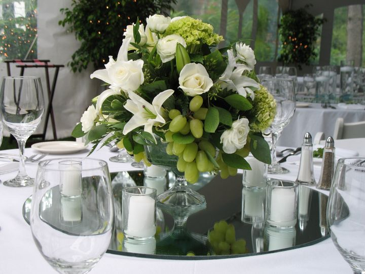 Tmx 1403879416873 White Flowers And Grapes On Mirror Boothbay Harbor, Maine wedding florist