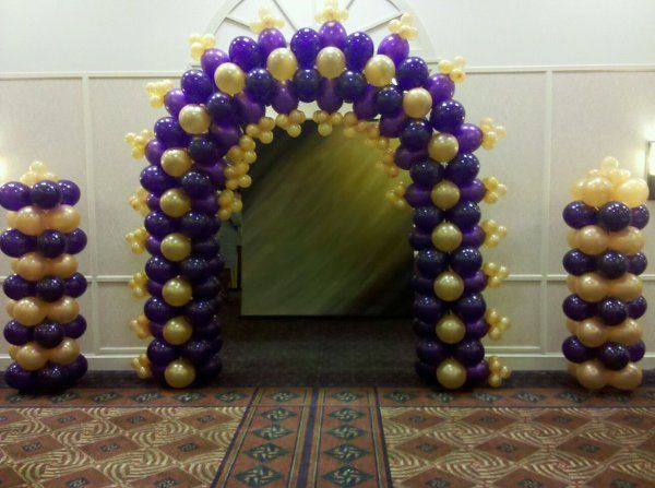 Balloon wedding arbor