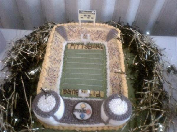 Pittsburg Steeler Stadium Cake. Everything is edible!
