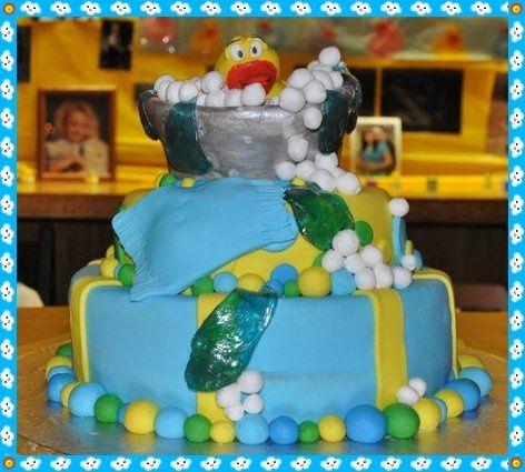 Rubber Duckie Shower Cake