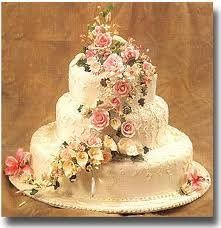 Three tier butter cream wedding cake