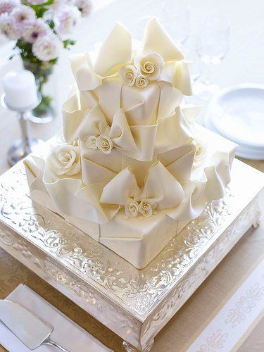 Fondant Cake Great for wedding or bridal shower.