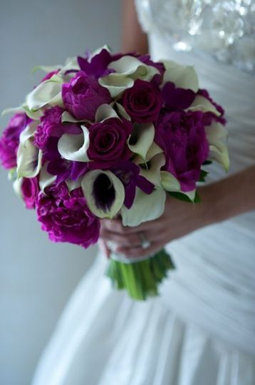 White and violet arrangement