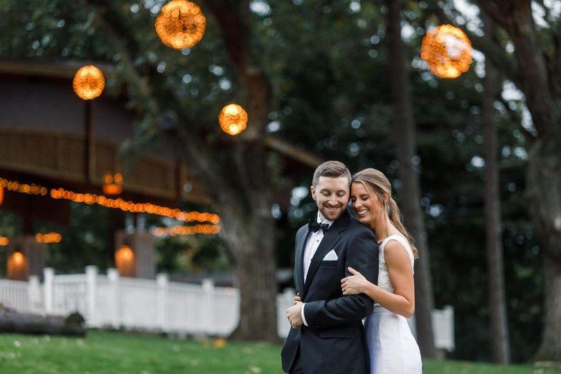 Holding her groom