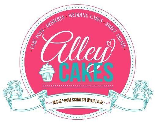 alleycakes logo for wedding wire