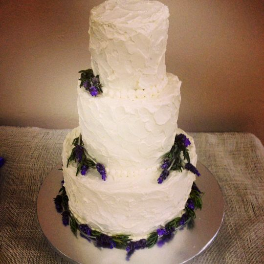 Rustic Three Tier cake with Swish Texture