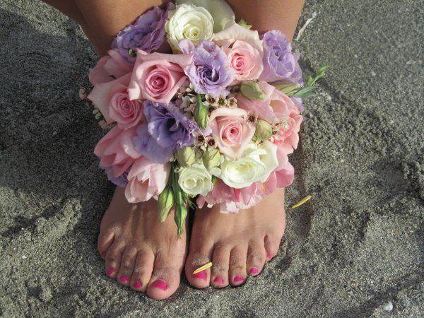 Barefoot Wedding flowers
