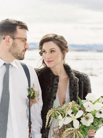 Winter newlyweds | Simply Sarah Photography