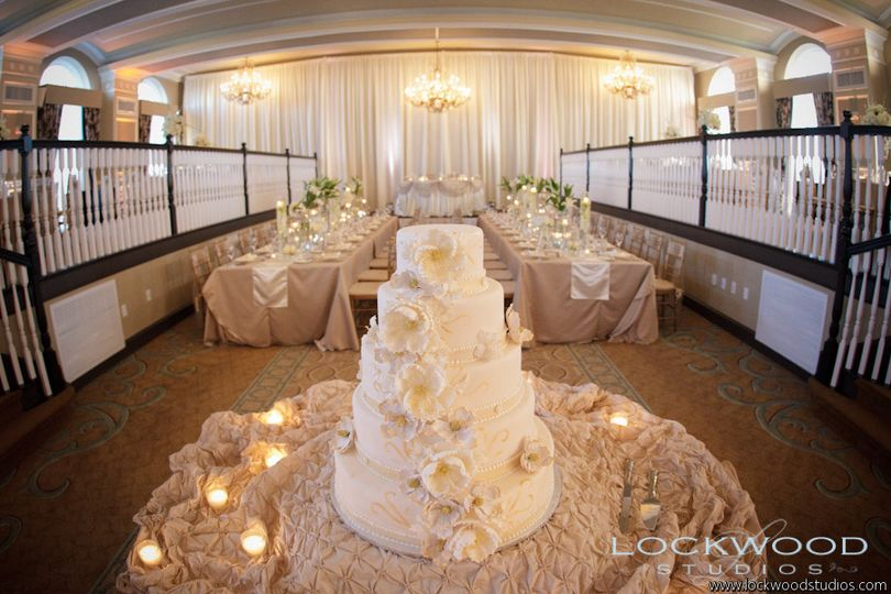 cake and table
