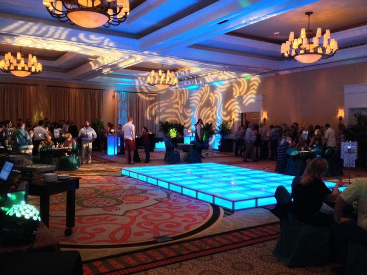 Tmx 1401478948225 Blue Lighted Dancefloor 4 Saint Petersburg, FL wedding eventproduction