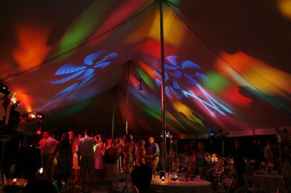 Party Lighting in a tent