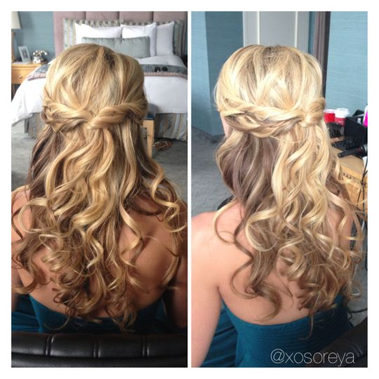 beach curls half up